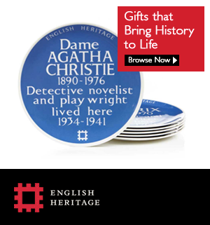 agatha christie blue plaque gift