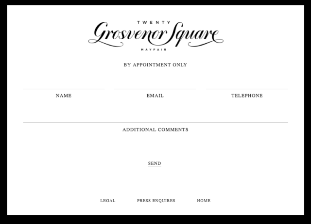 twenty grosvenor square registration form