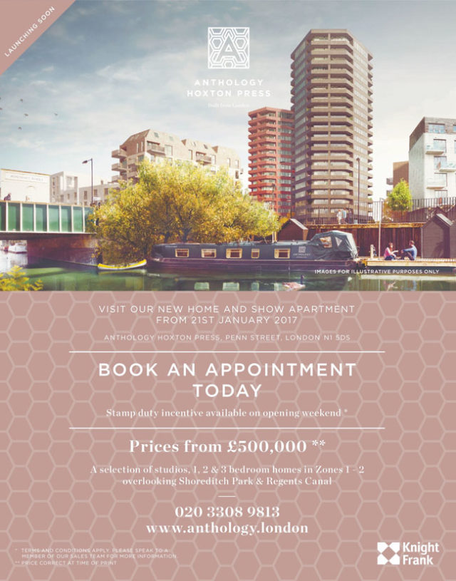 anthology hoxton press advert in Homes and Property