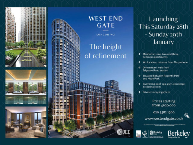west end gate development ad in metro