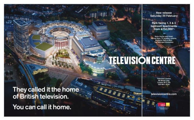 Television Centre London W12 Homes & Property ad Feb 2017
