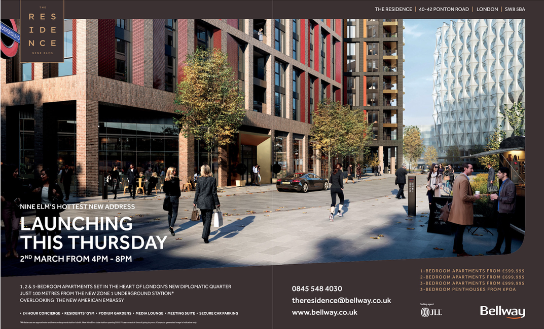 The Residence ad in Homes & Property Nine Elms SW8