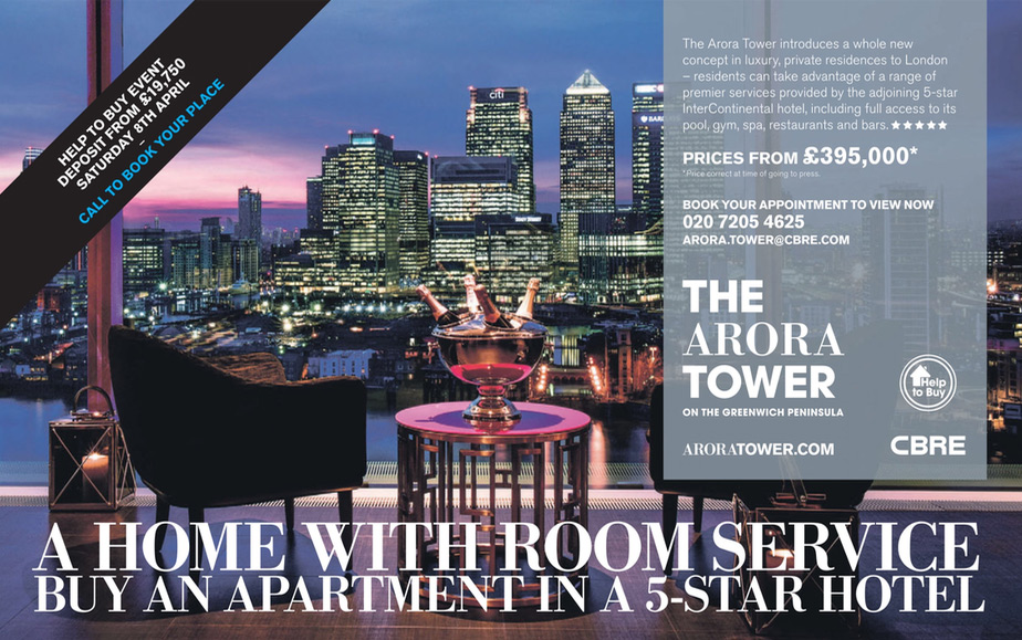the arora tower advert help to buy event 2017