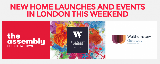new home launches and events in London this weekend March 2018
