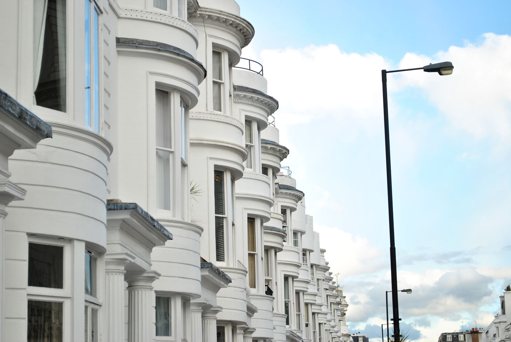 Victorian terraced houses on Gloucester Terrace