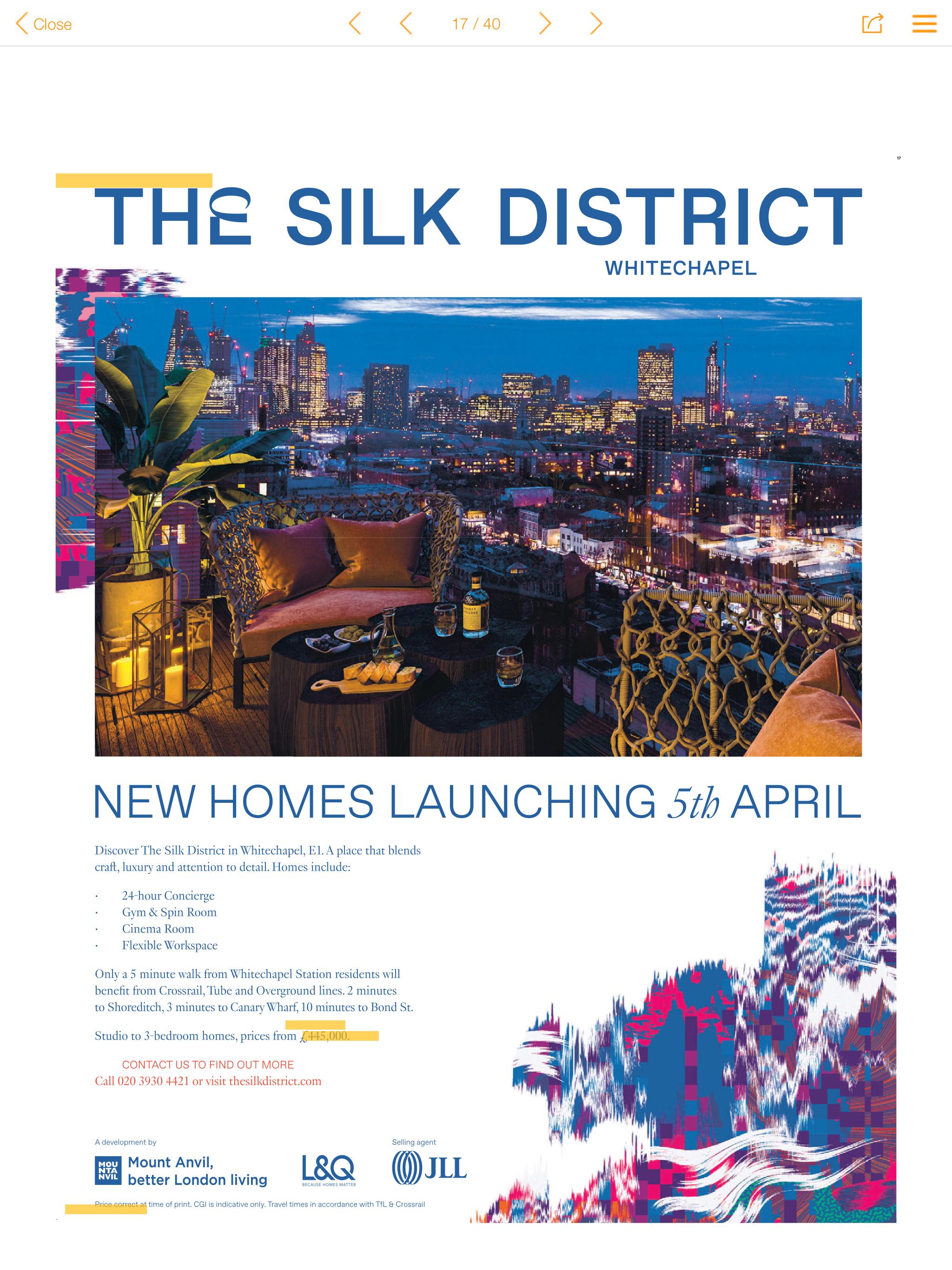 the silk district development ad
