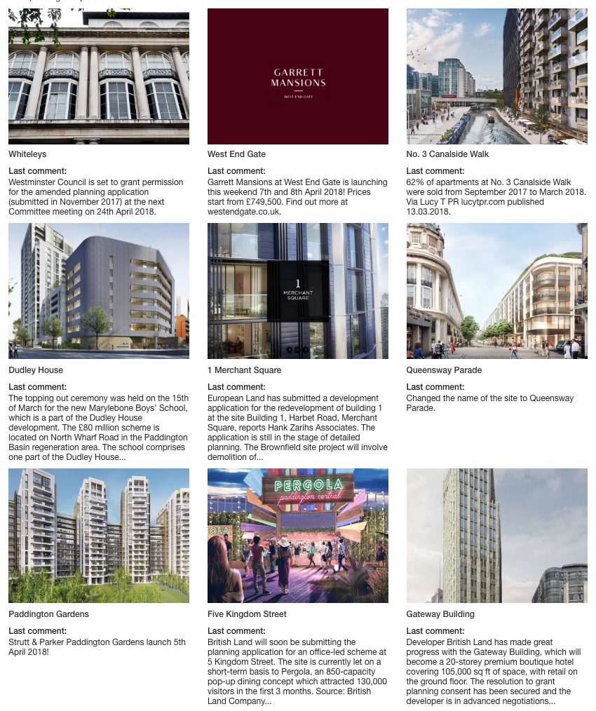 Find new property development offers by London postcode