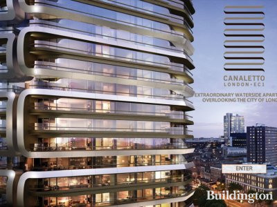 Screen capture of Canaletto development website www.canalettolondon.com