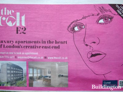 The Colt advertisement in Homes & Property Evening Standard 2. October 2013.