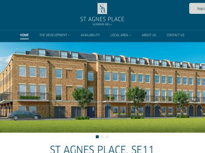 Screen capture of St Agnes Place development website at www.stagnesplace.co.uk