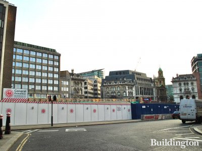 Sixty London office development site is right next to 65 Holborn Viaduct.