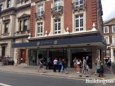 MG Motor UK flagship showroom opened at 47-48 Piccadilly in July 2015