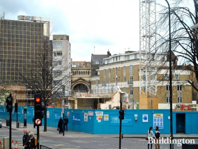 Marble Arch House site in March 2012.