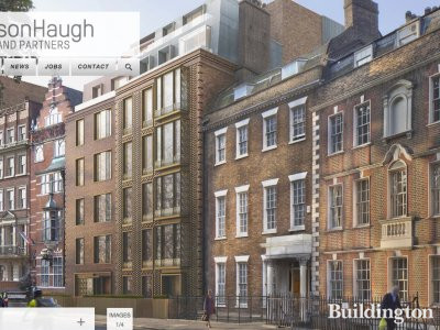 Screen capture of 18-19 Buckingham Gate CGI on SimpsonHaugh and Partners website