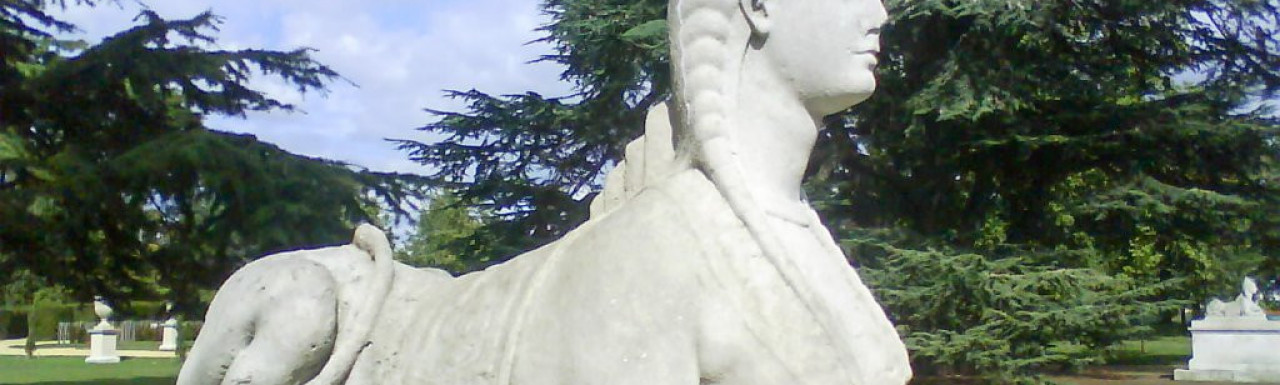 Lioness statue in Chiswick House garden, sculpted in 1733 by Pieter Scheemakers.