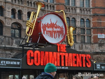 The Commitments signage above the entrance in February 2014
