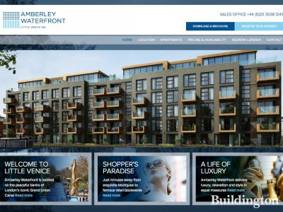 Screen capture of Amberley Waterfront website at www.amberleywaterfront.com in May 2013