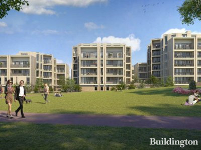 CGI of BASE17 development by Hill from the development brochure