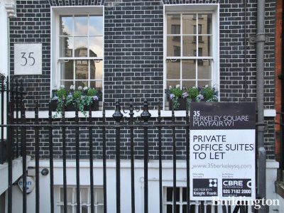 35 Berkeley Square - Private office suites to let in October 2013 by Knight Frank and CBRE.