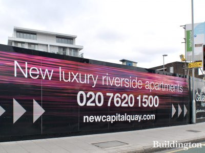 New luxury riverside apartments at New Capital Quay.