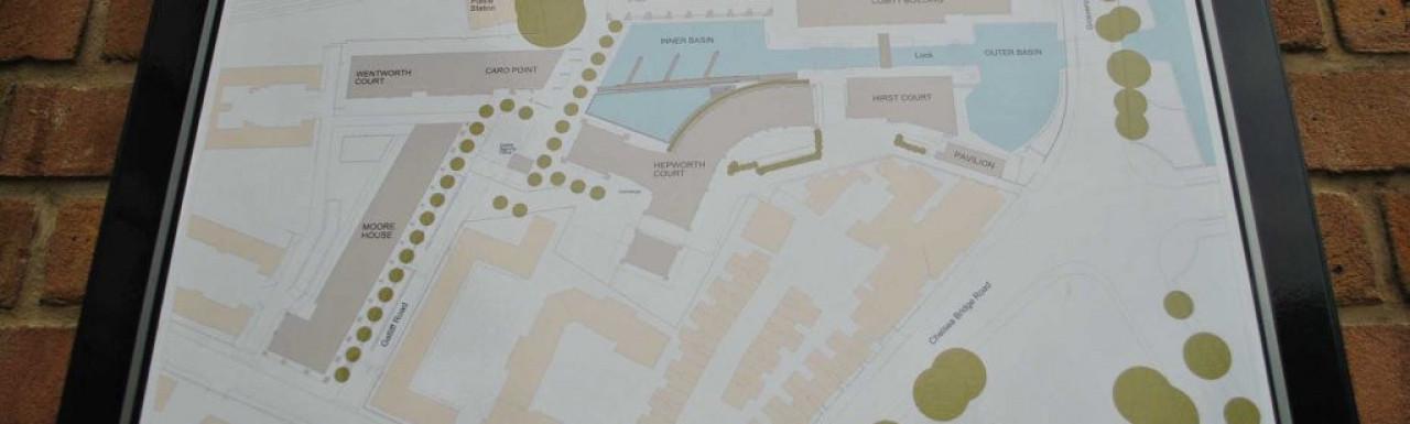 Grosvenor Waterside map.