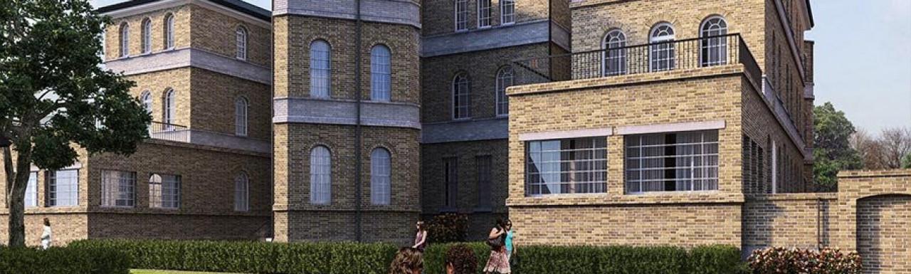 Screen capture of St Clements development CGI