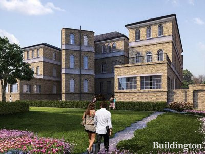 Screen capture of St Clements development CGI