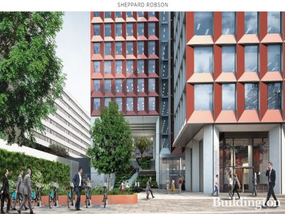 CGI of 245 Hammersmith Road on architect Sheppard Robson website
