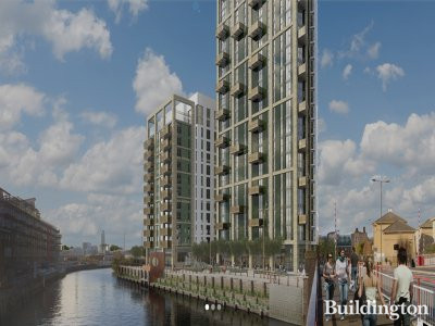 Screen capture of Creekside Wharf CGI on Essential Living website