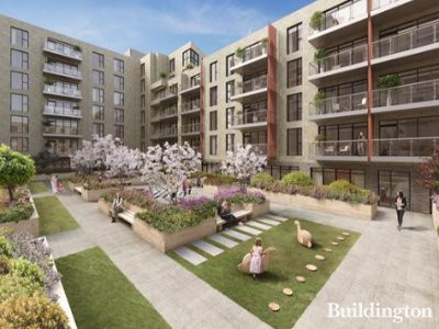 CGI of Lansbury Square development on Bellway website