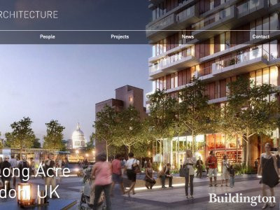 Screen capture of 90 Long Acre CGI on PLP Architecture website