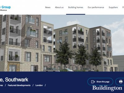 Screen capture of Sylvan Grove development on Hyde New Homes website