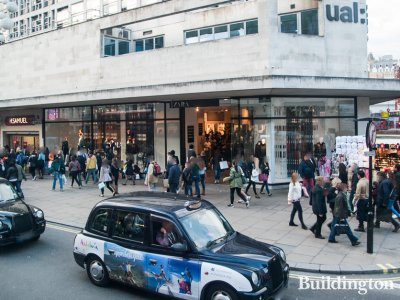 UAL London College of Fashion on Oxford Street in October 2014