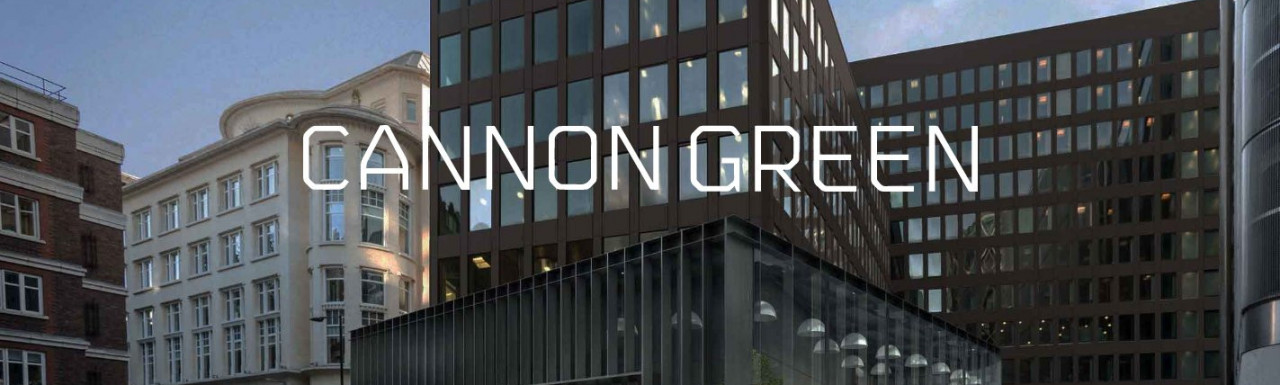 Screen capture of Cannon Green website at cannongreen.co.uk