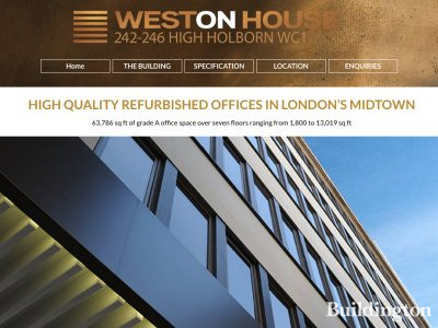 Weston House website in January 2017