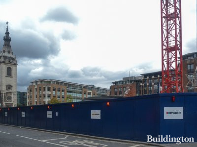 4 Cannon Street development site in October 2016