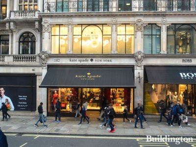 Kate Spade and Boss on Regent Street