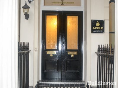 Entrance to Apple Apartments at 1 Westbourne Crescent