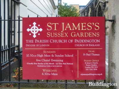 St James's Sussex Gardens, The Parish Church of Paddington, Diocese of London, Church of England. Vicar Fr Paul Thomas in Autumn 2016.