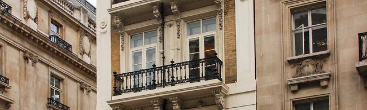 31a St James's Square building - Pall Mall elevation in 2009