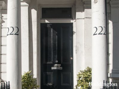 222 Gloucester Terrace building entrance in Bayswater, London W2