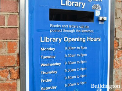 North Kensington Library opening times at 108 Ladbroke Grove in 2014