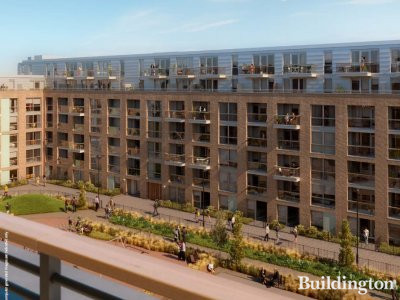 Packington Square CGI - screen capture from the development brochure at packingtonsquare.london