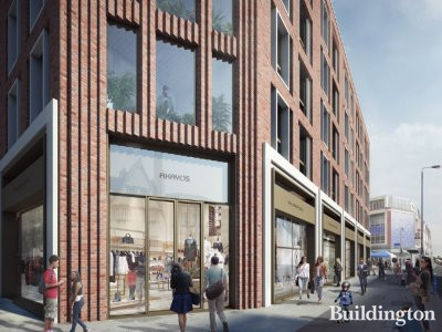 CGI of the new elevation on Putney High Street