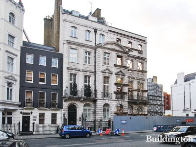 80 South Audley Street building in Mayfair, London W1.