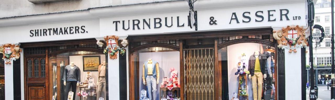 Turnbull & Asser shirtmakers at 71-72 Jermyn Street in St James's, London SW1