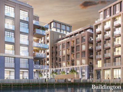 CGI of Ransome's Wharf by MSMR Architects