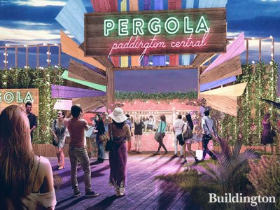 CGI of Pergola on The Roof at 5 Kingdom Street