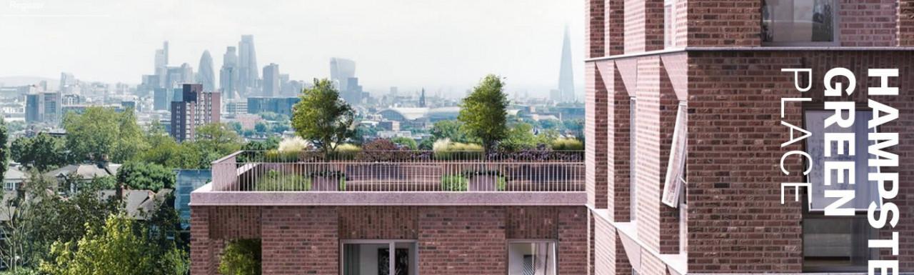 Screen capture of Hampstead Green Place development website at hampsteadgreenplace.co.uk