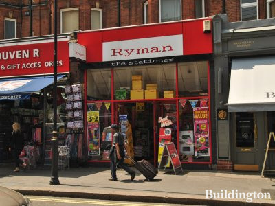 Ryman, the stationer, at 121 Queensway